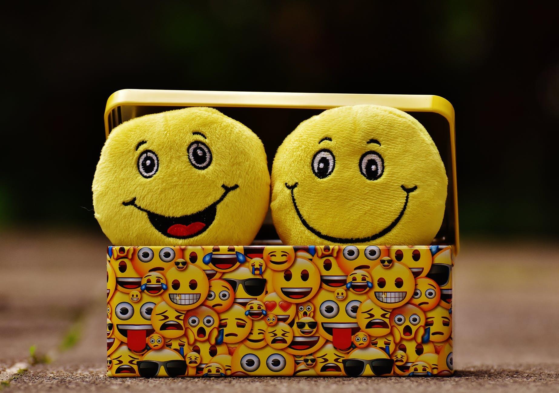 box cheerful color cute
